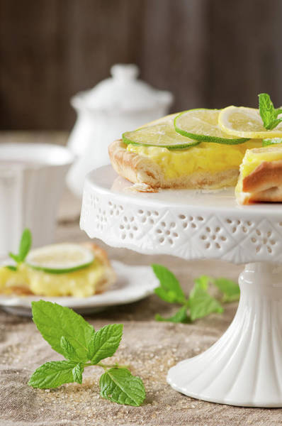 Teapot Photograph - Lime And Lemone Tart by Oxana Denezhkina