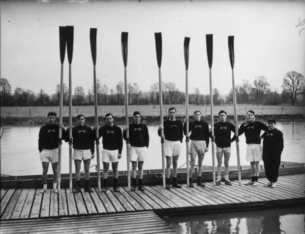 Oar Photograph - Line Of Oars by J. A. Hampton