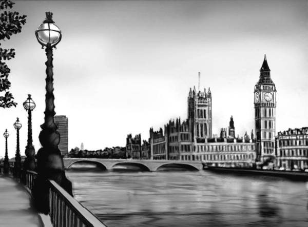 Palace Of Westminster Wall Art - Digital Art - Liquidlibrary by Jupiterimages