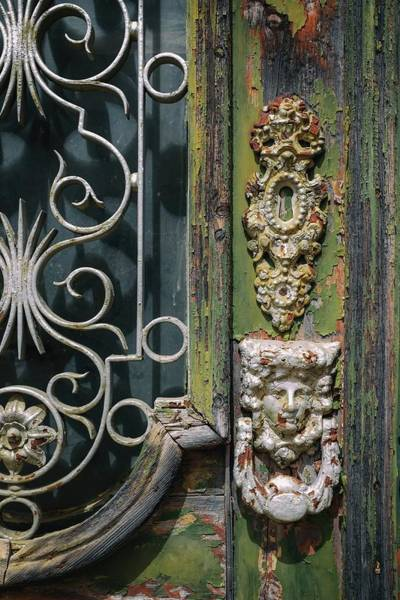 Wall Art - Photograph - Lisbon Old Door Detail by Carlos Caetano