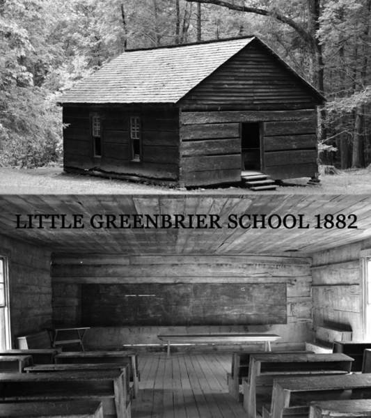 Little Greenbrier School Photograph - Little Greenbrier School 1882 by David Lee Thompson