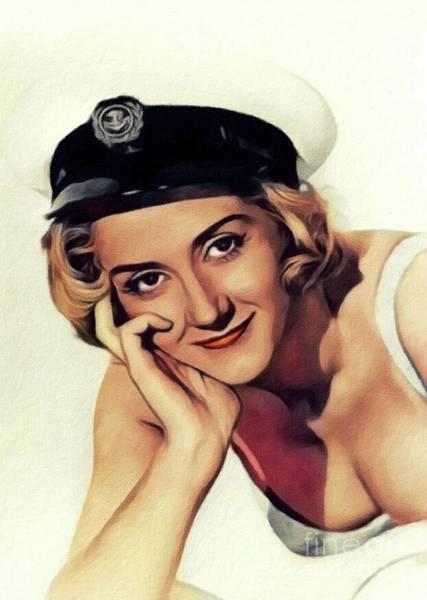 Wall Art - Painting - Liz Fraser, Vintage Actress by John Springfield