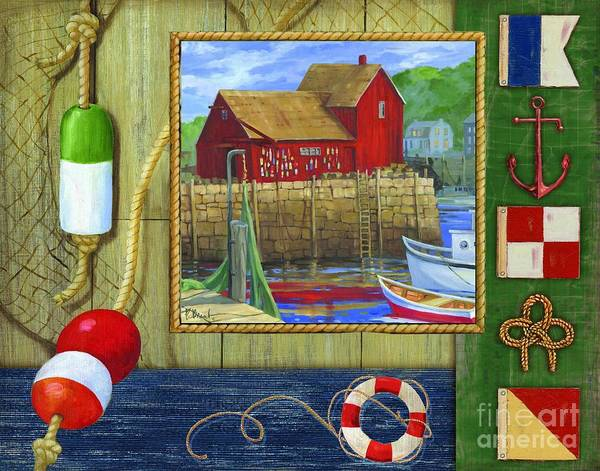 Sealife Painting - Lobster Shack Collage by Paul Brent