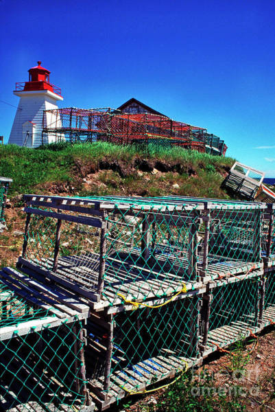 Photograph - Lobster Traps Neils Harbour Lightstation by Thomas R Fletcher