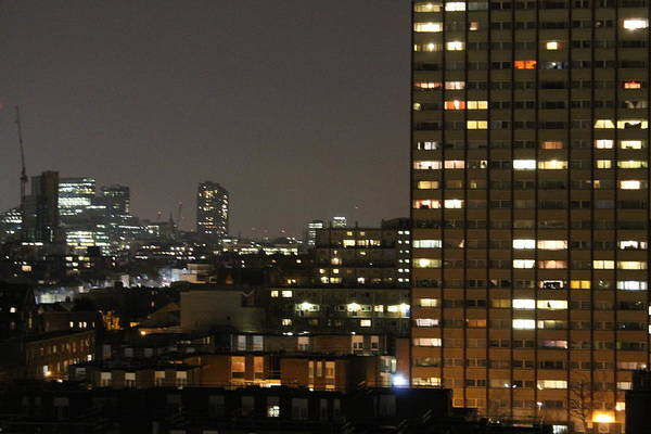 Canary Wharf Photograph - London At Night by Le Chateau Ludic