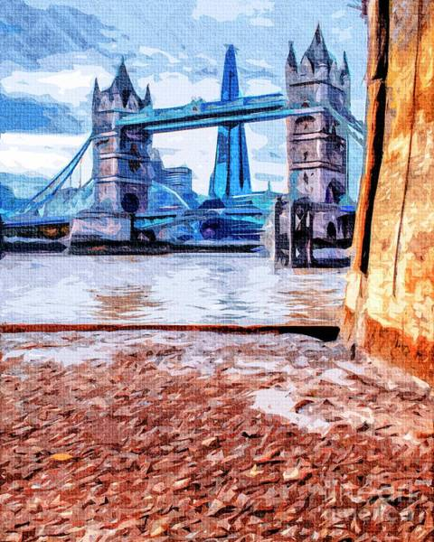 Photograph - London Tower Bridge And The Shard by Nigel Dudson