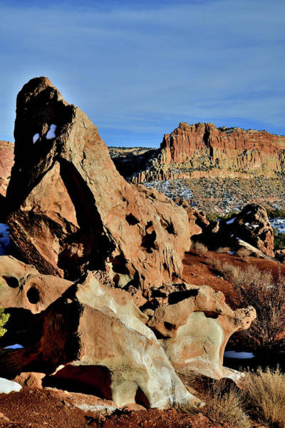 Photograph - Looking South Along Scenic Drive In Capitol Reef by Ray Mathis