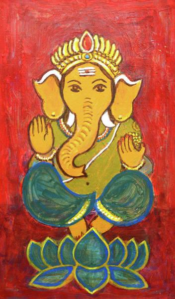 Wall Art - Painting - Lord Ganesha by Usha Shantharam