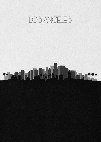 Wall Art - Drawing - Los Angeles Cityscape Art V2 by Inspirowl Design