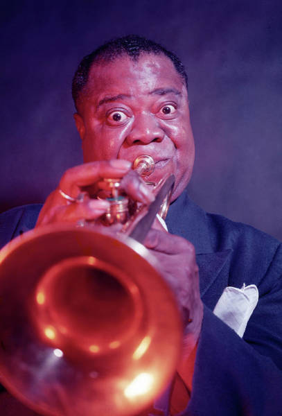 Photograph - Louis Armstrong by Eliot Elisofon