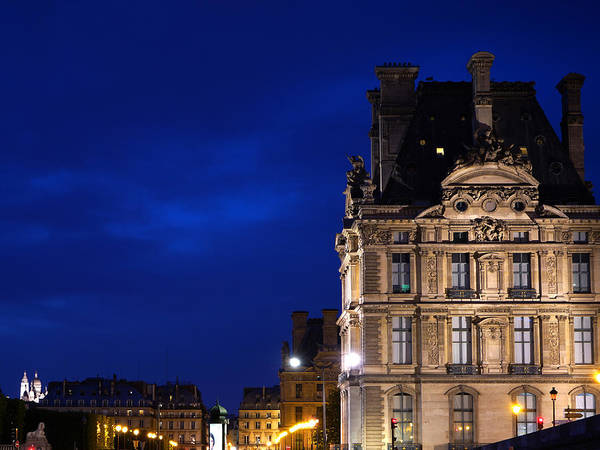 Photograph - Louvre At Night 2 by Andrew Fare
