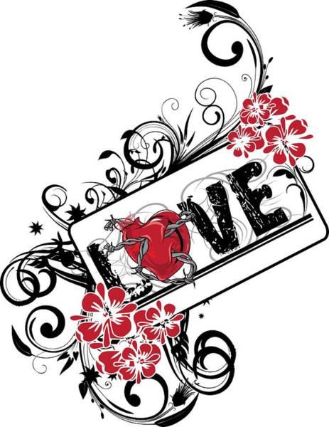 Digital Art - Love by Passion Loft