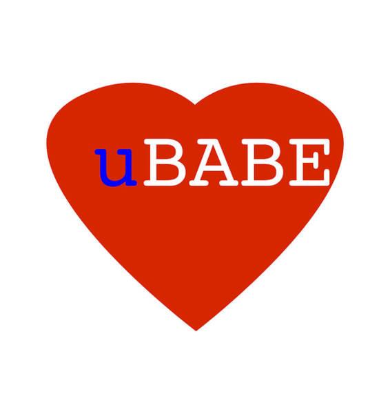 Digital Art - Love U Babe by Charles Stuart