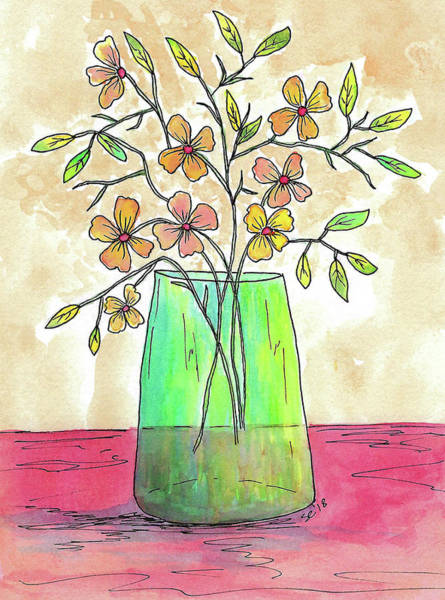 Painting - Lovely Vase Of Flowers by Susan Campbell