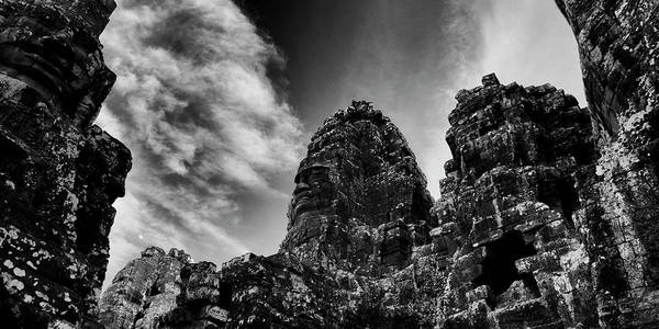 Wall Art - Photograph - Low Angle View Of Ruins Of Temples by Panoramic Images