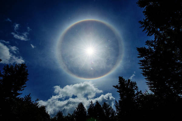 Wall Art - Photograph - Low Angle View Of Sundog In Sky by Panoramic Images