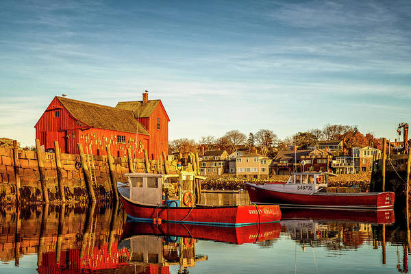 Photograph - Low Tide And Lobster Boats At Motif #1 by Jeff Sinon