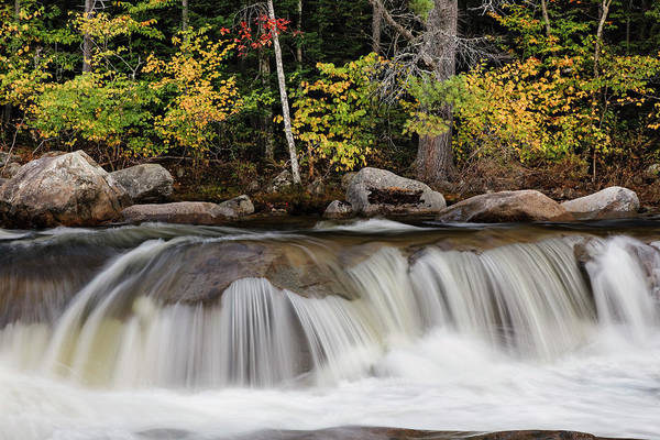 Albany Photograph - Lower Falls And Autumn Colors, Swift by Adam Jones