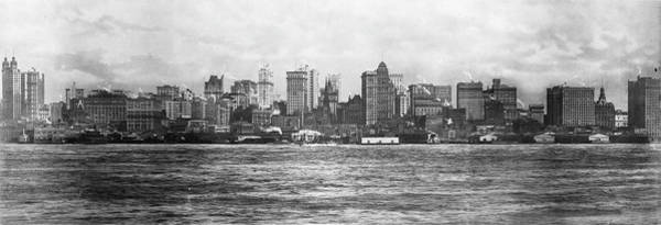 New Jersey Photograph - Lower Manhattan Skyline & The Hudson by The New York Historical Society