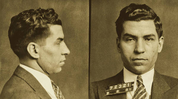 Luciano Wall Art - Photograph - Lucky Luciano Mugshot 1931 by N Y P D