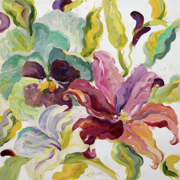 Lyrical Wall Art - Painting - Lyrical Garden I by Lanie Loreth