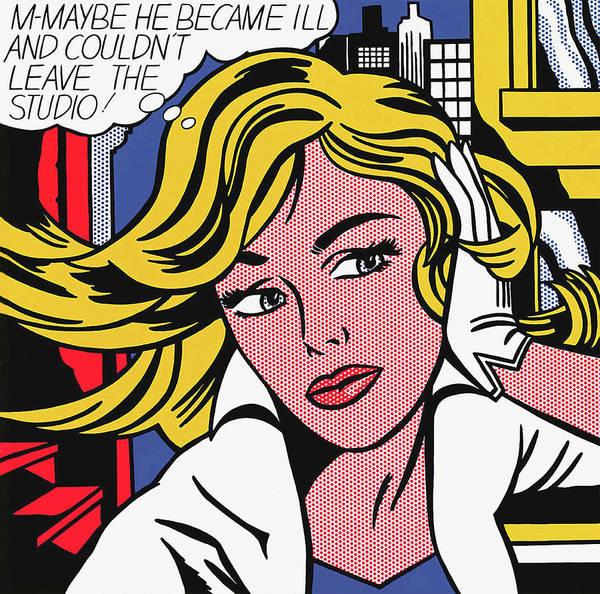Photograph - M-maybe - Roy Lichtenstein by Doc Braham - In Tribute to Roy Lichtenstein