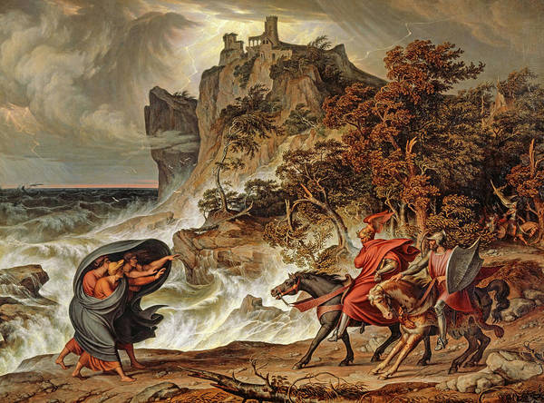 Wall Art - Painting - Macbeth And The Witches by Joseph Anton Koch