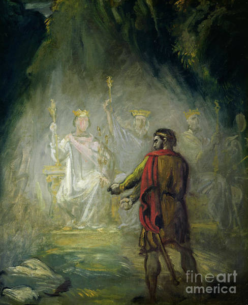 Wall Art - Painting - Macbeth by Theodore Chasseriau