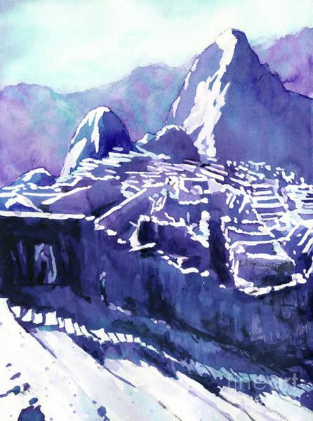 Wall Art - Painting - Machu Picchu Vista by Ryan Fox
