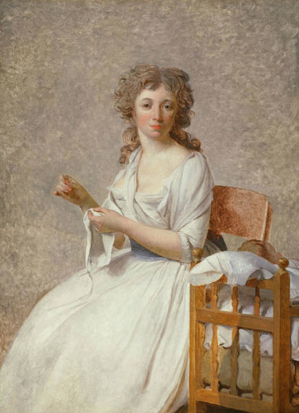 Wall Art - Painting - Madame De Pastoret And Her Son by Jacques-Louis David