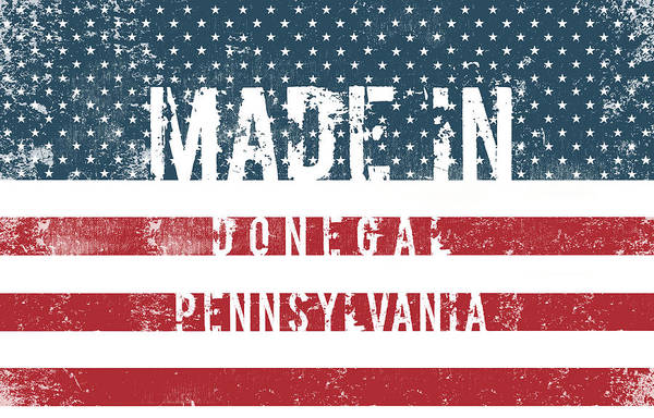 Donegal Digital Art - Made In Donegal, Pennsylvania by Tinto Designs