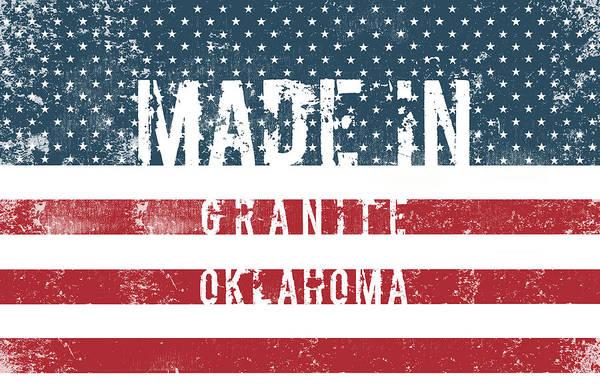 Granite Digital Art - Made In Granite, Oklahoma by Tinto Designs