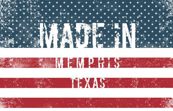 Memphis Design Wall Art - Digital Art - Made In Memphis, Texas by Tinto Designs