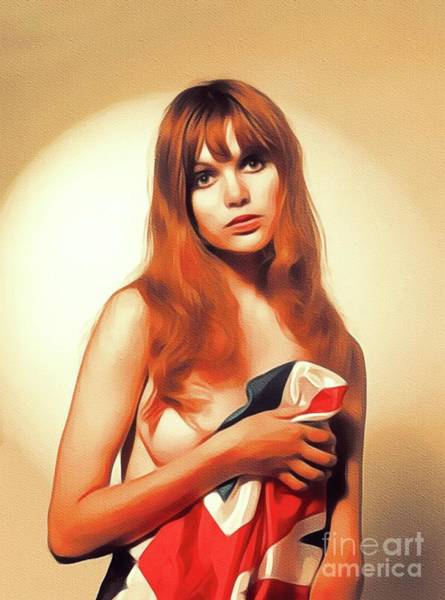 Wall Art - Painting - Madeline Smith, Vintage Actress by John Springfield