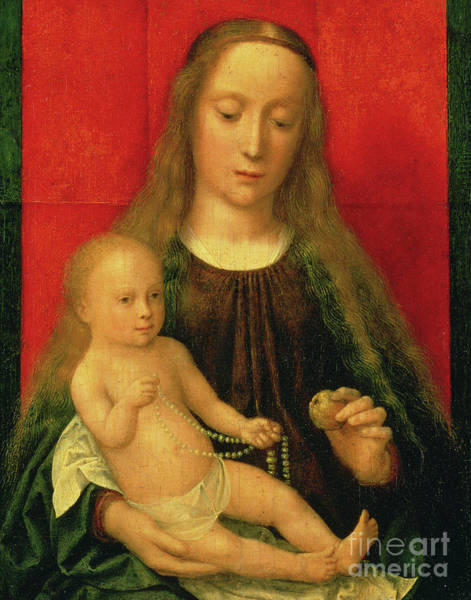 Wall Art - Painting - Madonna And Child by Gerard David