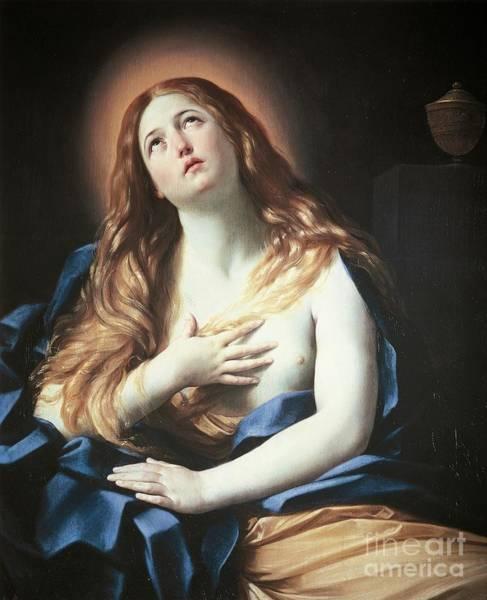 Wall Art - Painting - Magdalene By Guido Reni by Guido Reni
