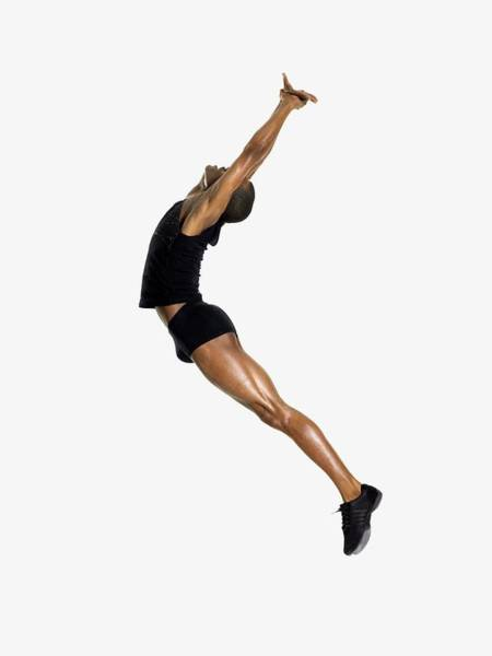 Adult Male Photograph - Male Dancer Jumping by Image Source