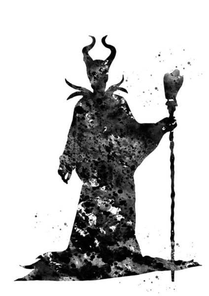 Maleficent Digital Art - Maleficent by Erzebet S