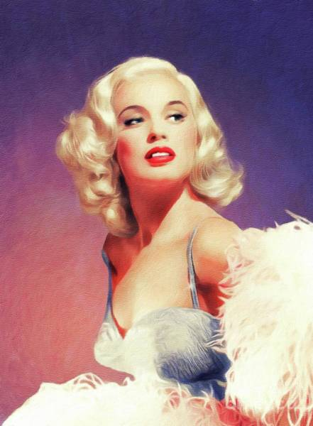 Wall Art - Painting - Mamie Van Doren, Vintage Actress by John Springfield