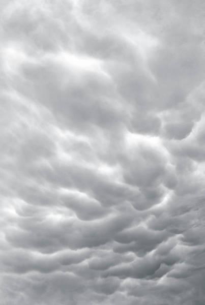 Rain Photograph - Mammatus Storm Clouds by Wallace Garrison