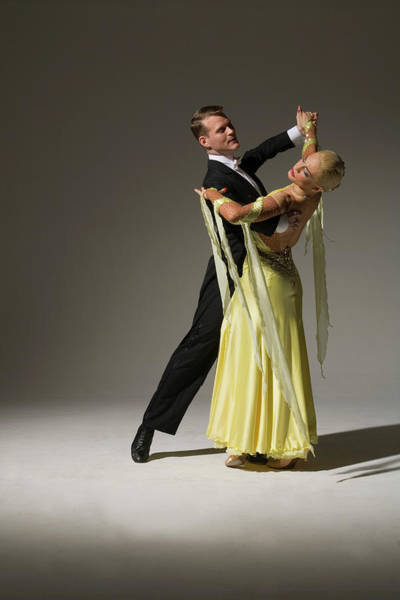 Caucasian Photograph - Man And Woman Ballroom Dancing by Pm Images