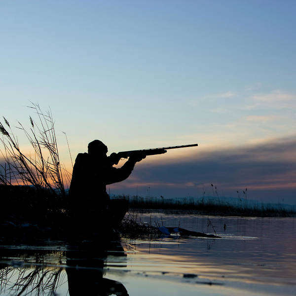 Rifle Photograph - Man Duck Hunting by Rubberball Productions
