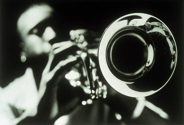 Real People Photograph - Man Playing Trumpet by David Troncoso