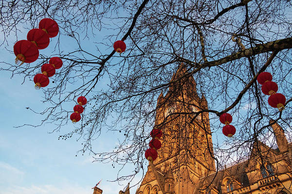 Photograph - Manchester Town Hall Chinese New Year Lantern Decorations In Man by Iordanis Pallikaras