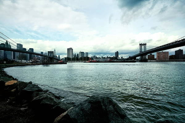 Wall Art - Photograph - Manhattan And Brooklyn Bridge Panorama by Chuck Kuhn