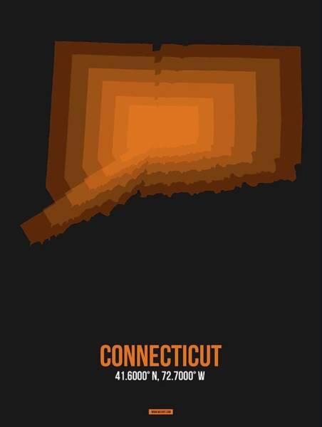 Wall Art - Digital Art - Map Of Connecticut 2 by Naxart Studio
