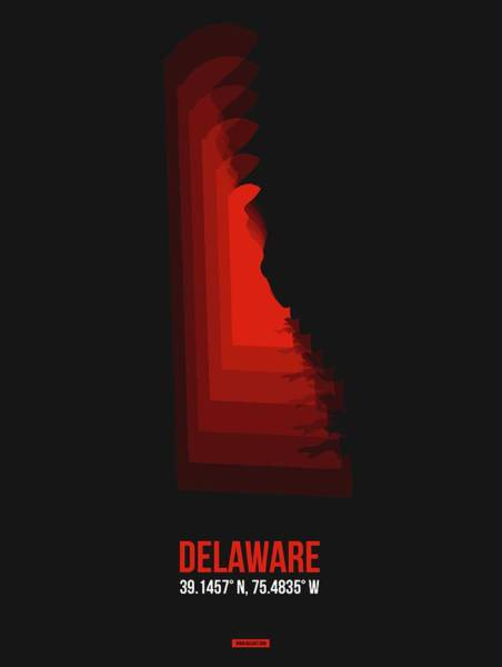 Wall Art - Digital Art - Map Of Delaware by Naxart Studio
