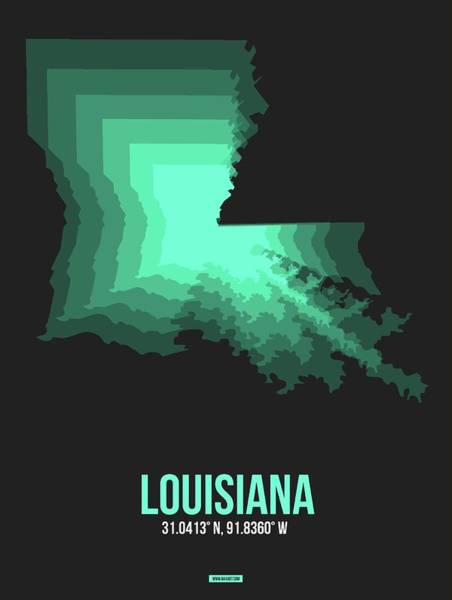 Wall Art - Digital Art - Map Of Louisiana by Naxart Studio