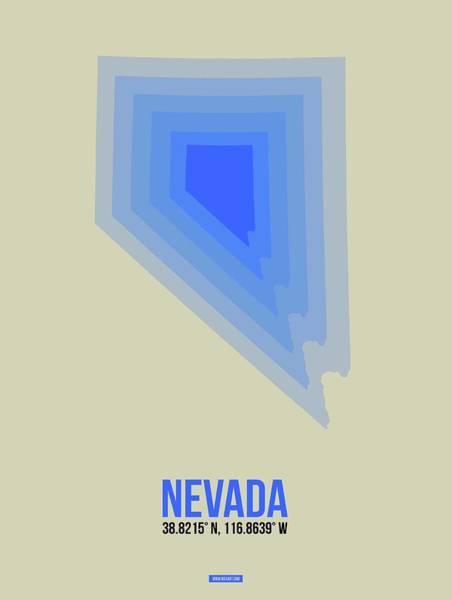Wall Art - Digital Art - Map Of Nevada by Naxart Studio