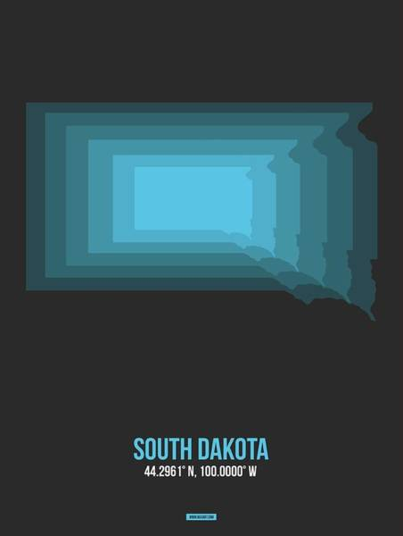 Wall Art - Digital Art - Map Of South Dakota  by Naxart Studio